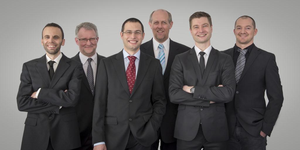 Das ABP-Team, das hinter der Entwicklung der neuen Software steht (v.l.n.r.): Herbert Wagner, Norbert Schett, Teammanager Christian Felbinger, Einar Steinsson, Markus Zeilinger und Michael Antensteiner